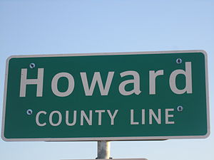 Howard County, Texas - Image: Howard County, TX, line marker IMG 1814