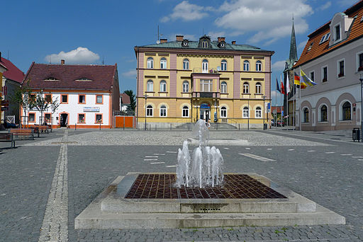 Marktplatz in Grottau (Hrádek nad Nisou)