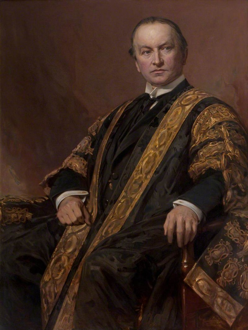 Хуберт фон Херкомер (1849-1914) - Джордж Натаниэль Керзон (1859-1925), первый маркиз Керзон Кедлстонский, KG, GCIE, PC, член парламента, в мантии - 108803 - National Trust.jpg