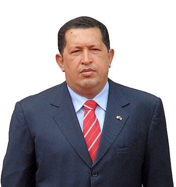 Hugo Chavez photo cut 27-06-2008