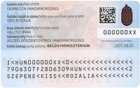 Hungarian ID card obverse