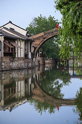 Hongji Bridge in Nanxun, Zhejiang, China.