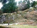Hyakken-Ishigaki stone wall (one of the Onojo-Castle ruins).jpg