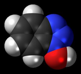 Hydroxybenzotriazole - Image: Hydroxybenzotriazole 3D spacefill