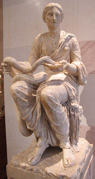 Hygieia - 1st century Roman statue of the goddess