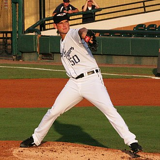 Jacob Turner - Turner pitching for the Lakeland Flying Tigers, advanced-A affiliates of the Detroit Tigers, in 2012.