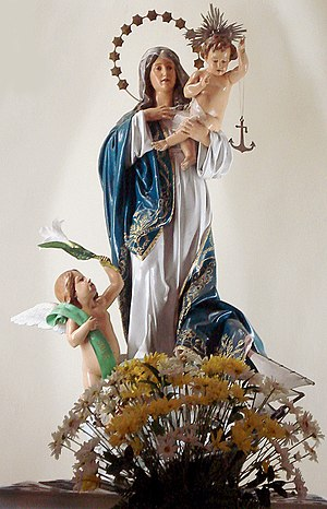 Our Lady of Navigators - Statue of Our Lady of Navigators at the Our Lady of Navigators church, Porto Alegre, Brazil