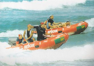 Inflatable Rescue Boat - IRB's being raced