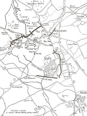 Heuvelland - 11 April 1918 during the Fight of the Kemmel as part of the Spring Offensive