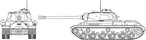 IS tank family - Line drawing of IS-2