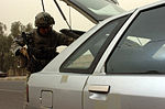 ISF, MND-B Soldiers search vehicles in northwest Baghdad DVIDS85945.jpg