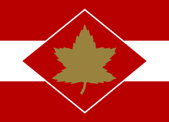 I Canadian Corps - The formation sign used to identify vehicles associated with corps-level units.
