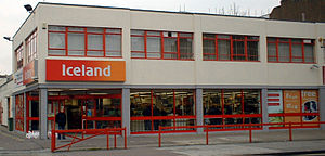 Iceland (supermarket) - Iceland store in south London.