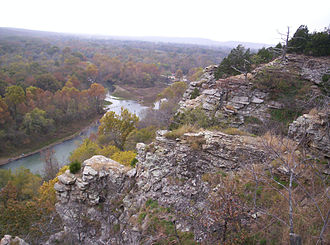 Illinois River (Oklahoma) - The Illinois River, seen here in the upper stretches of Tenkiller Ferry Lake