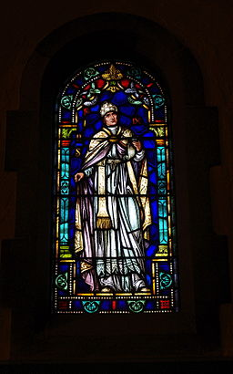 Immaculate Conception Church (Columbus, Ohio) - stained glass, Pope Pius IX