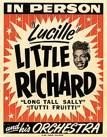 A poster advertising Little Richard and his orchestra