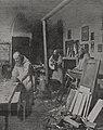 In der Schreinerei des Kartäuserklosters bei Düsseldorf. Foto Erwin Quedenfeldt, Düsseldorf, 1912.jpg