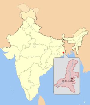 Geography of Kolkata - Location of Kolkata