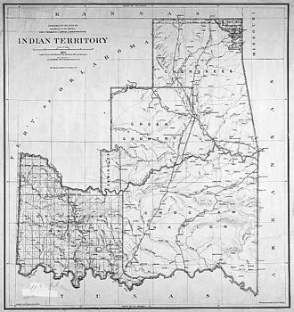Indian Territory - Indian Territory in 1885 (top) and 1891 (bottom)