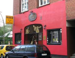 Entrada al Indra Club de Hamburgo.