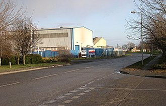 Bourne, Lincolnshire - Factory buildings in Cherry Holt Road