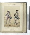 Infanteria de linea. (a) Tambor, del regimiento de Murcia; (b) Pifano, del regimiento de España. 1750-1759 (NYPL b14896507-87564).tiff