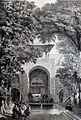 Interior garden of colledge of Sultan Shah Hussein by Eugène Flandin.jpg