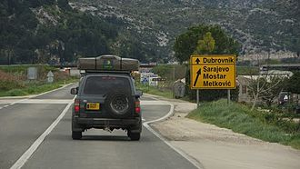 D9 road (Croatia) - The southernmost segment of the D9 route switches to the D8 road