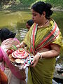 Inviting Goddess Ganga - Hindu Sacred Thread Ceremony - Simurali 2009-04-05 4050060.JPG