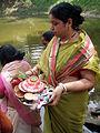 Inviting Goddess Ganga - Hindu Sacred Thread Ceremony - Simurali 2009-04-05 4050060.JPG