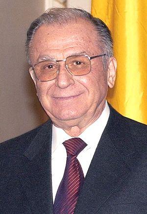 Português: O presidente da Romênia Ion Iliescu.