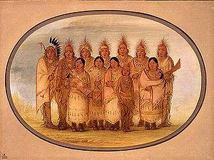 American Indians of Iowa - Ioway, 1861