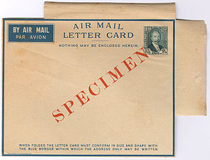 Letter sheet - Iraq airmail letter card issued in 1933