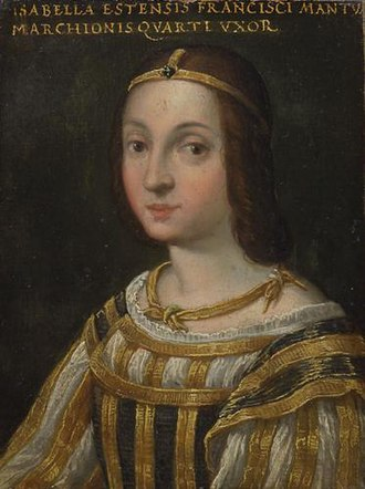 Isabella d'Este - Miniature of Isabella