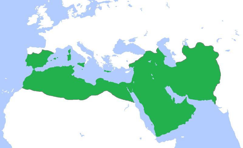 Islams största utbredning runt 850 e.v.t.