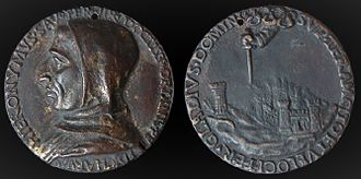 Girolamo Savonarola - Italian Renaissance Medal of Girolamo Savonarola by Fiorentino. Electrotype, obverse
