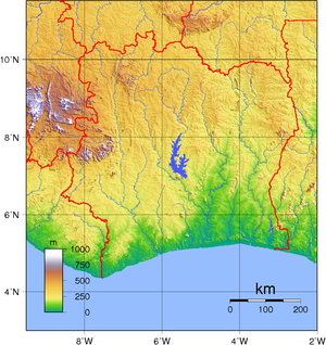 Geography of Ivory Coast - Topography of Ivory Coast