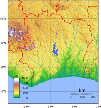 Geography of Ivory Coast - Topography of Ivory Coast