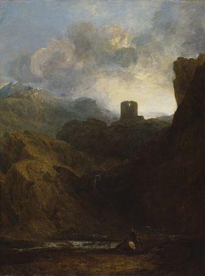 Dolbadarn Castle - J. M. W. Turner's painting ''Dolbadarn Castle'', 1800.
