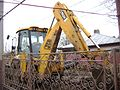 JCB 3CX Backhoe Loader during sewerage work in Bucharest, 2007 (side angle view).jpg