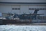 JMSDF US-2(9904) forward fuselage section left front view at ShinMaywa Industries Konan Plant February 2, 2019.jpg