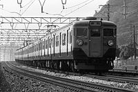 JNR 113 rapid train Sanyo Main Line Suma ward, Kobe.jpg