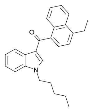 JWH-210 - Image: JWH 210 structure