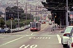 J Church train on Ocean Avenue, May 1997.jpg