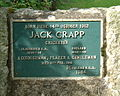 Jack Crapp plaque, Bridge, St Columb, Cornwall.jpg