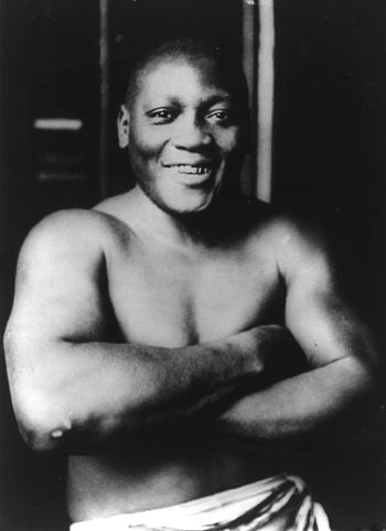 English: Jack Johnson, 1915 Source:Library of ...