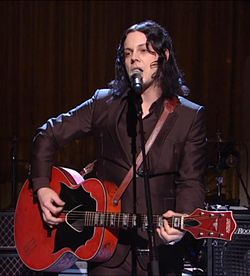 "Jack White performs ""Mother Nature's Son"" in the East Room as part of a concert honoring Paul McCartney with the Library of Congress Gershwin Prize for Popular Song, Jun. 2, 2010."