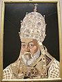 Jacopo ligozzi (disegno), ritratto di papa clemente VIII in pietre dure, 1600-1601, 01.JPG