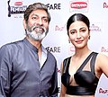 Jagapathi Babu with Shruti Haasan at Filmfare Awards 2014.jpg