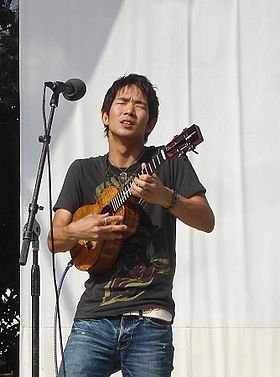 Jake Shimabukuro performing, by Michale.jpg